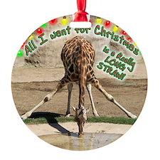 XmasDrinkingGiraffeCir.png Ornament