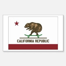 California Skateboard Bear Flag Decal