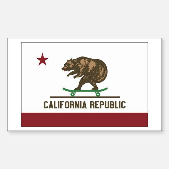 California Skateboard Bear Flag Decal