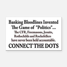 Banksters Invented Politics Rectangle Car Magnet