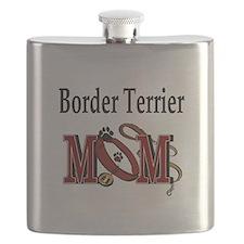 Border Terrier Mom Flask