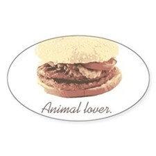 ANIMAL LOVER Oval Decal