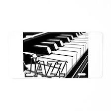 JAZZ- CHROME -PHOTO.psd Aluminum License Plate