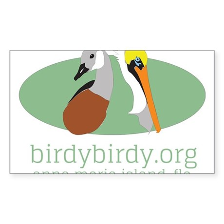birdybirdy.org on ami logo Sticker (Rectangle)