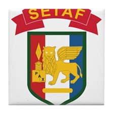 U.S.Army SETAF Italy Tile Coaster