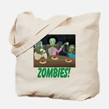 Zombies In My Basement Tote Bag