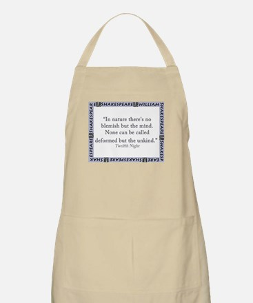 In Nature Theres No Blemish Light Apron