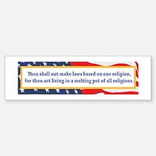 No Religious Zealots in Office! Bumper Bumper Sticker
