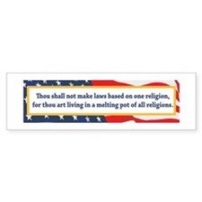 No Religious Zealots in Office! Bumper Sticker