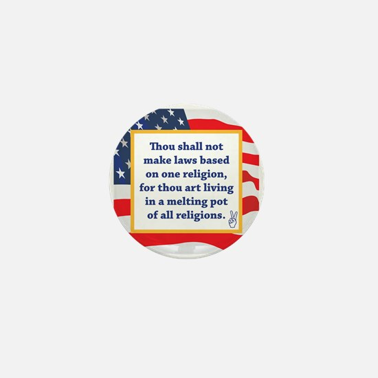 No Religious Zealots in Office! Mini Button