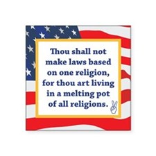 """No Religious Zealots in Office! Square Sticker 3"""""""