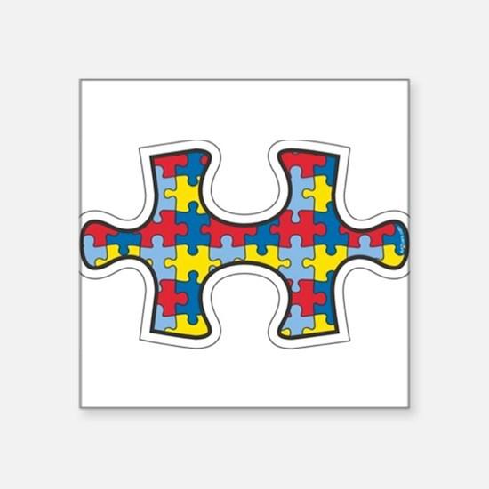 Die cut autism puzzle piece removable Sticker