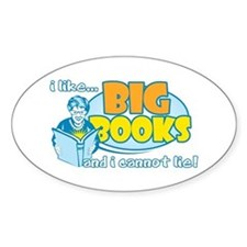 I Like Big Books Decal