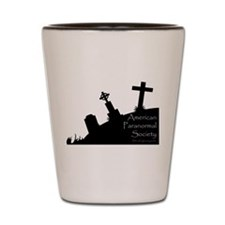 We Dig the Corner Cemetery Shot Glass