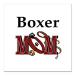 Boxer Mom Square Car Magnet 3