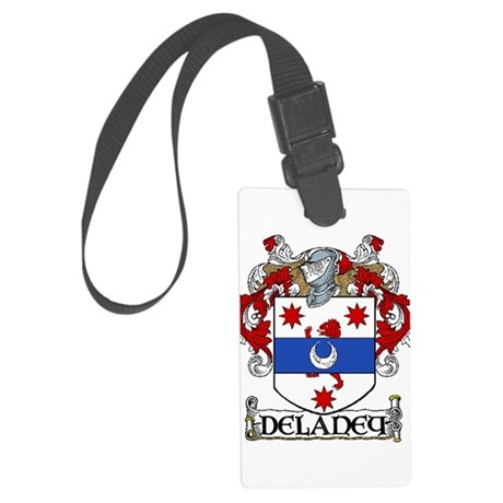 Delaney Coat of Arms Large Luggage Tag