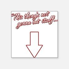 "Dirty Humor Square Sticker 3"" x 3"""