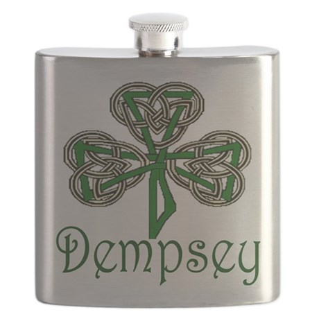 Dempsey Shamrock Flask
