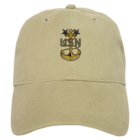 Master Chief<BR> White Or Khaki Cap