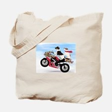Jack Russells on a motorcycle Tote Bag
