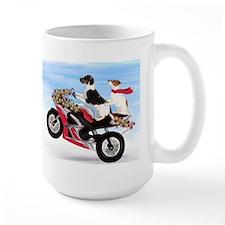 Jack Russells on a motorcycle Mug