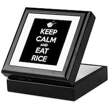 Keep Calm and Eat Rice. Keepsake Box