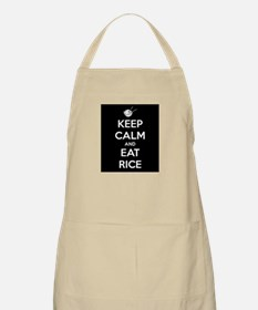 Keep Calm and Eat Rice. Apron