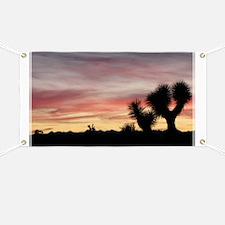 Joshua Tree Silhouette Banner