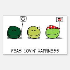 Peas Lovin' Happiness Decal