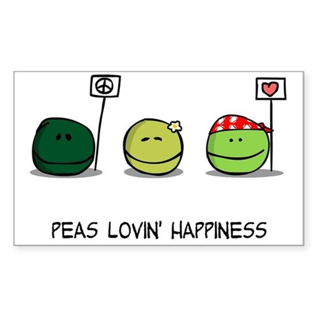 Peas Lovin' Happiness Sticker