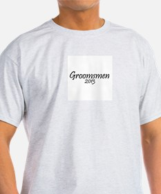 Groomsmen 2013 (Basic Black Design) T-Shirt