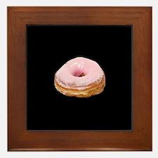 donut big_frosted_pinkdbutton.jpg Framed Tile