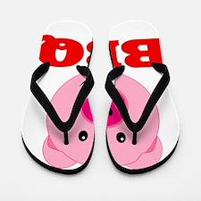 Pink Pig Red BBQ Flip Flops