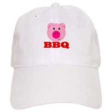 Pink Pig Red BBQ Baseball Cap