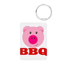 Pink Pig Red BBQ Keychains