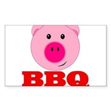Pink Pig Red BBQ Decal