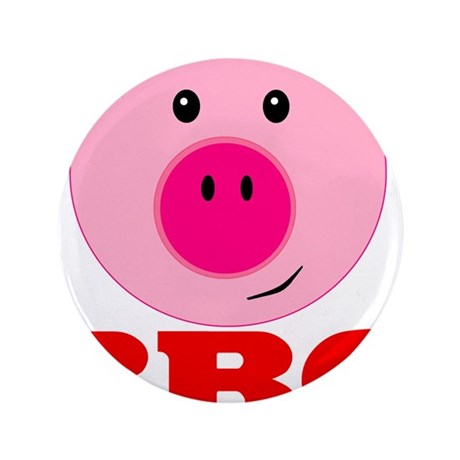"Pink Pig Red BBQ 3.5"" Button (100 pack)"
