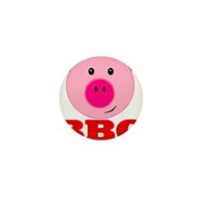 Pink Pig Red BBQ Mini Button (10 pack)