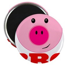 "Pink Pig Red BBQ 2.25"" Magnet (100 pack)"