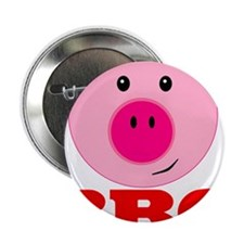 """Pink Pig Red BBQ 2.25"""" Button (100 pack)"""