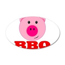 Pink Pig Red BBQ Wall Decal