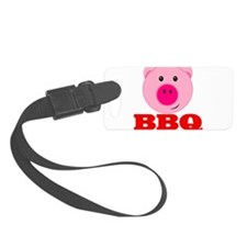 Pink Pig Red BBQ Luggage Tag
