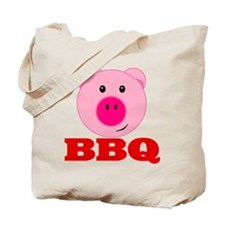 Pink Pig Red BBQ Tote Bag