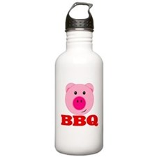 Pink Pig Red BBQ Water Bottle