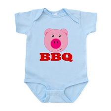 Pink Pig Red BBQ Infant Bodysuit