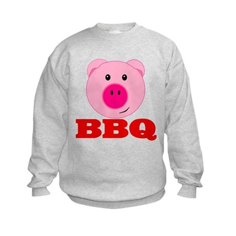 Pink Pig Red BBQ Kids Sweatshirt