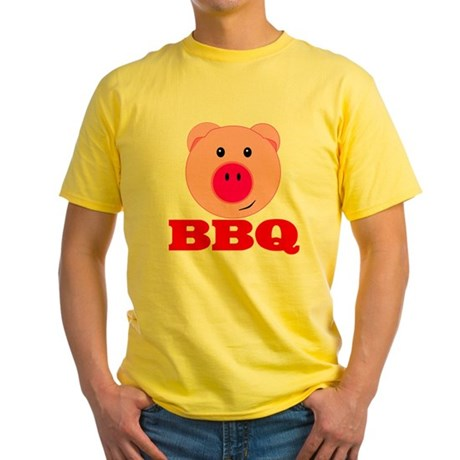 Pink Pig Red BBQ Yellow T-Shirt