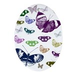 Butterflies Collage Ornament (Oval)