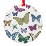 Butterflies Collage Round Ornament