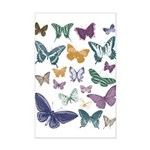 Butterflies Collage Mini Poster Print